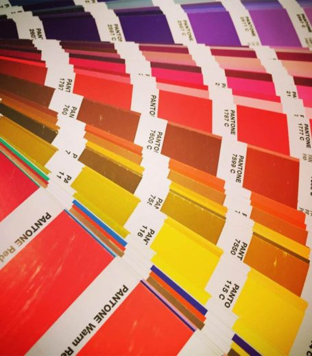 pantone color swatches