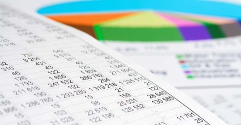 printed tables and charts