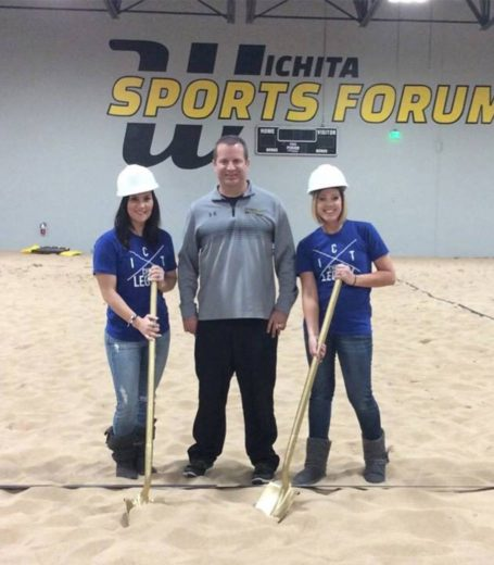 3 people with shovels at a ground breaking